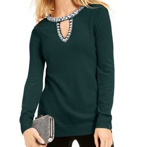 NWT INC International Concepts Keyhole Sweater